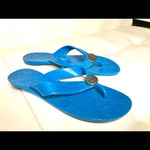 Tory Burch Turquoise Flip Flops